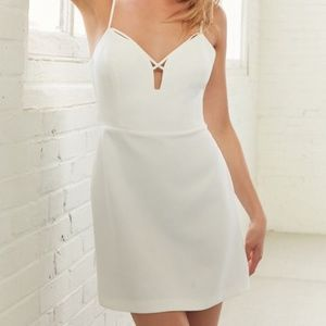 Urban Outfitters Strappy White Mini Dress